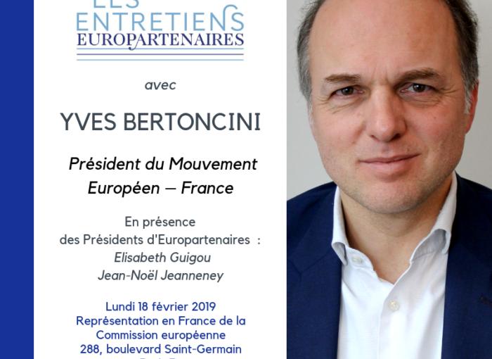 Le think tank Europartenaires reçoit Yves Bertoncini, Président du Mouvement Européen